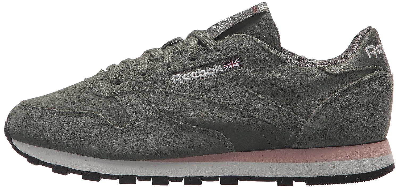 Reebok Women's Cl Lthr W&w Sneaker B074V28DW5 9 B(M) US|Ironstone/Pink/Skull Grey