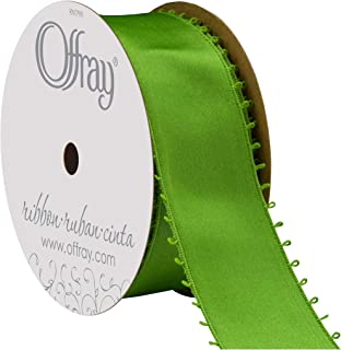 """product image for Offray Berwick 1.5"""" Wide Double Face Satin Ribbon, Kiwi Green, 10 Yds"""