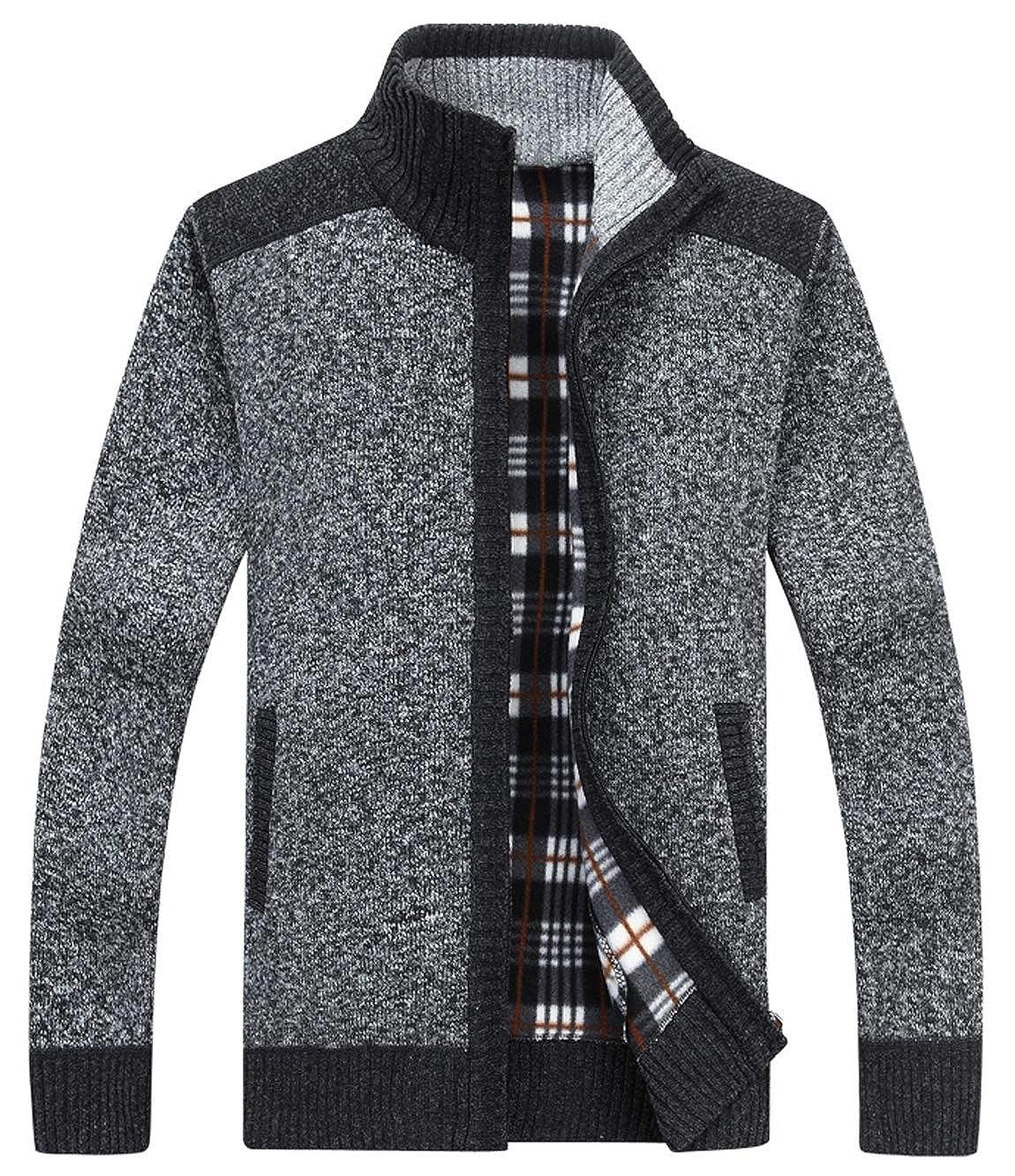 HOWON Men's Fashion Zipper Cardigan Sweaters