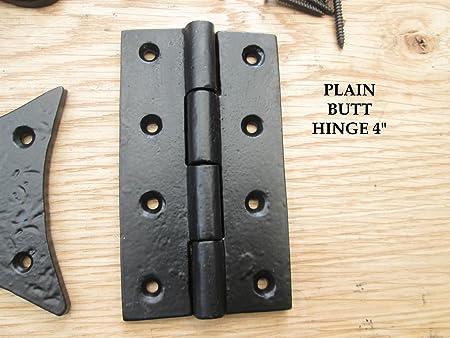 Black Cast Iron Hinge Antique Style Cupboard Door Hinge 90mm Length