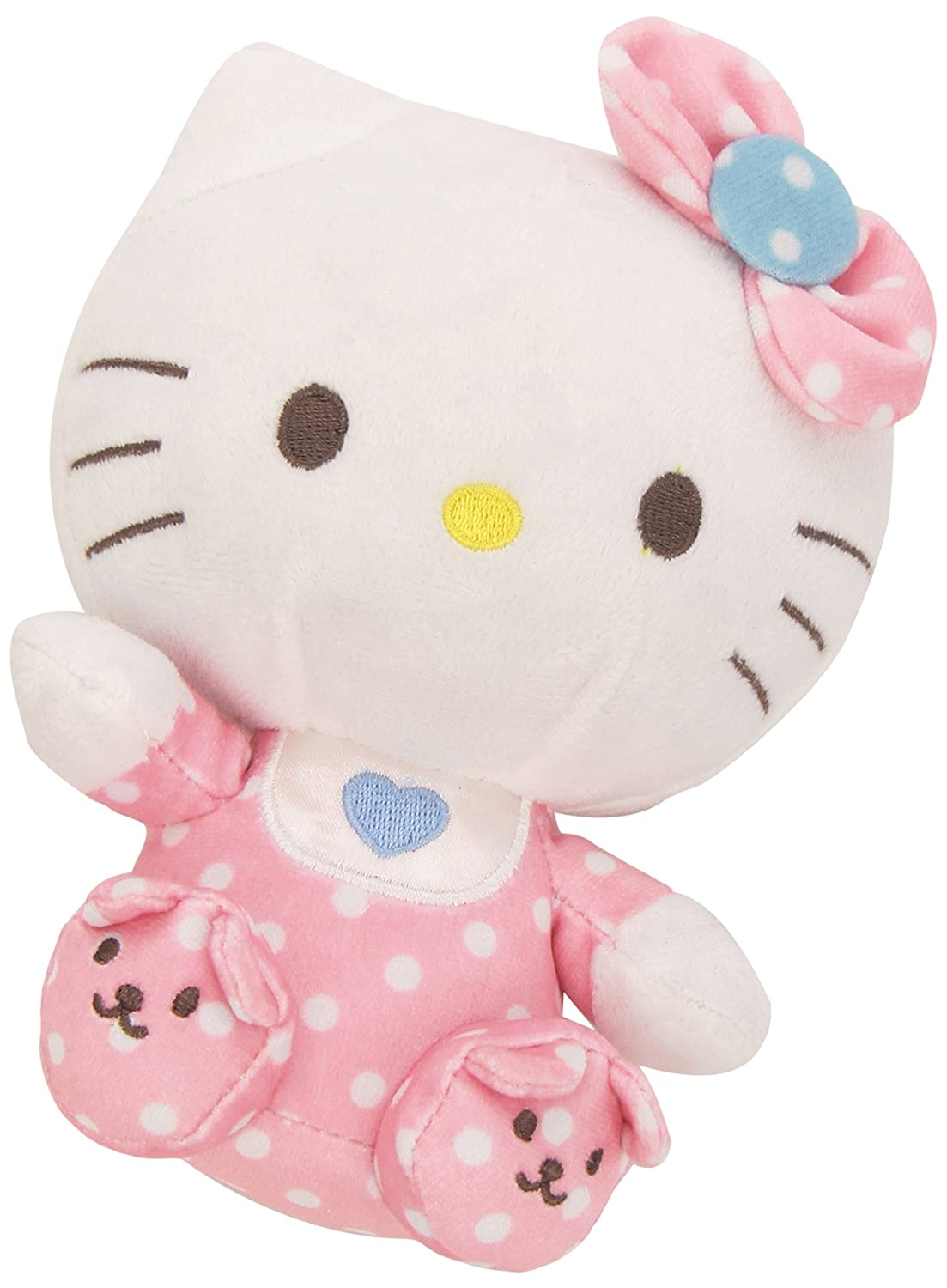 Amazon.com: Ty Beanie Babies Hello Kitty Pink Baby with Rattle Plush: Toys  & Games