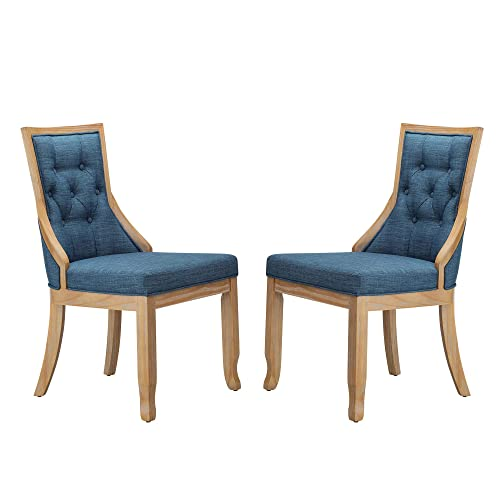 Stone Beam Vintage Armless Dining Chair, 19 H, Navy, Set of 2