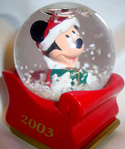 f4414bbf5ed8c Image Unavailable. Image not available for. Color  2003 JC Penney Mickey  Mouse Christmas Miniature Snow Globe MIB