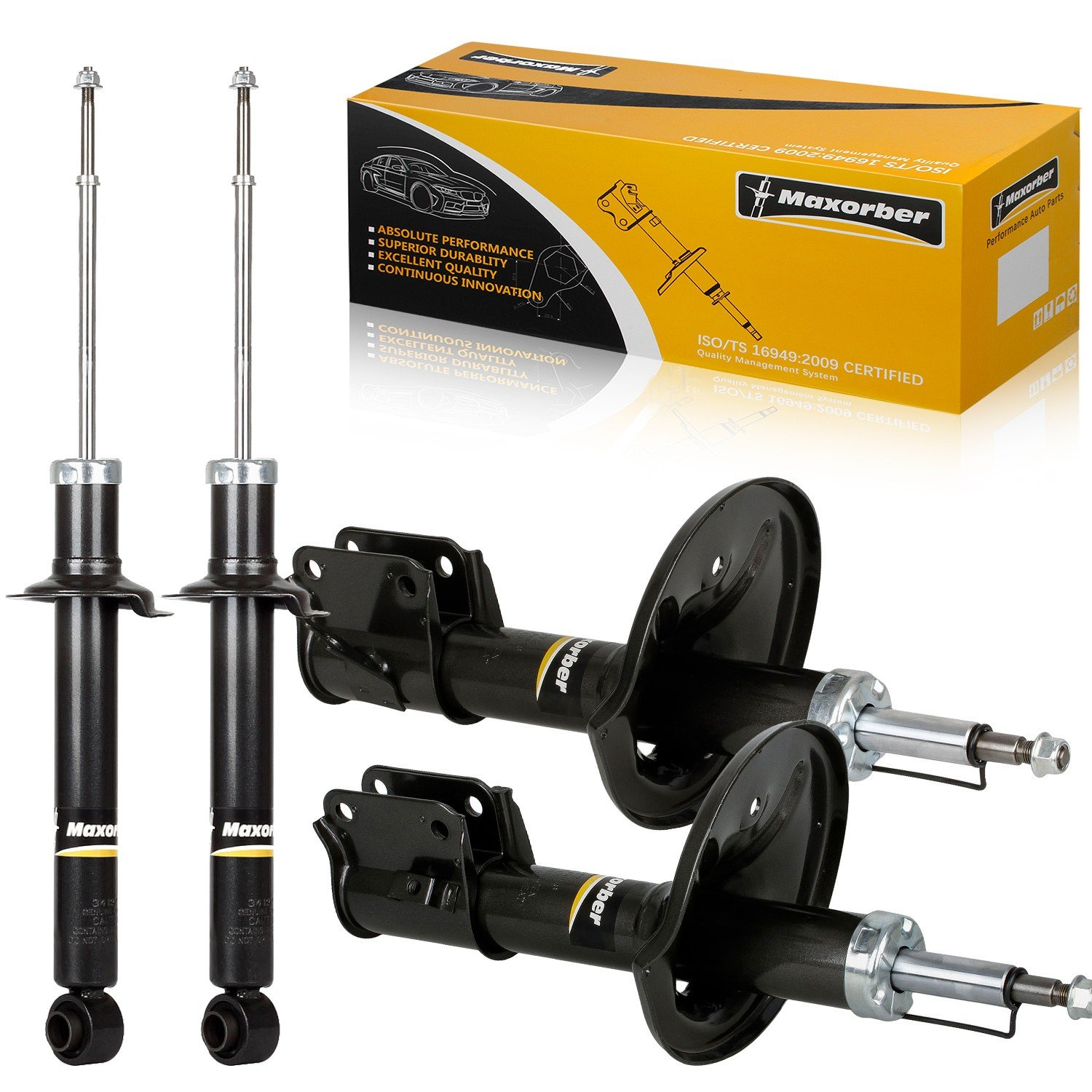 Amazon.com: Maxorber Front & Rear Full Set Shocks Struts Absorber Compatible with 1997-2003 Mitsubishi Diamante 4 Pieces: Automotive