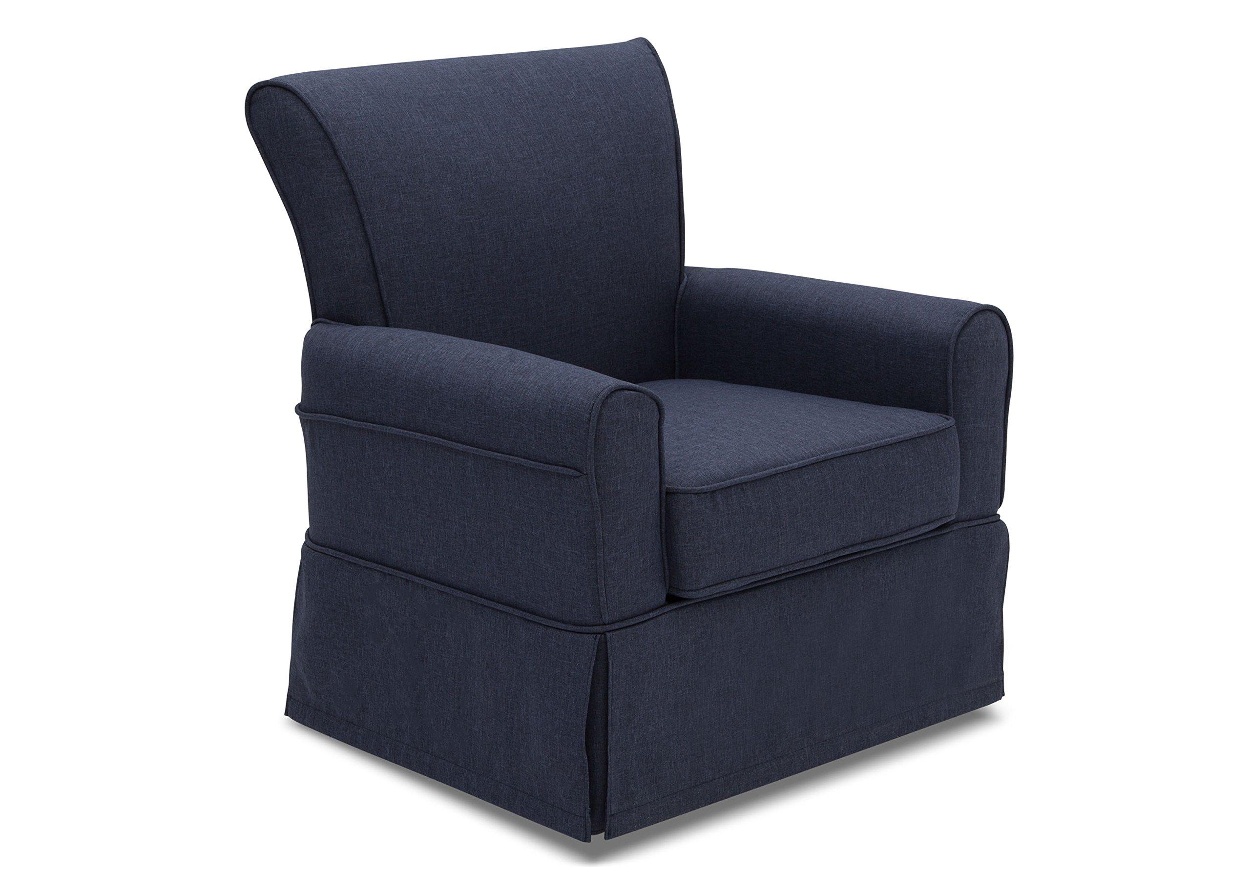 Delta Furniture Upholstered Glider Swivel Rocker Chair, Sailor Blue