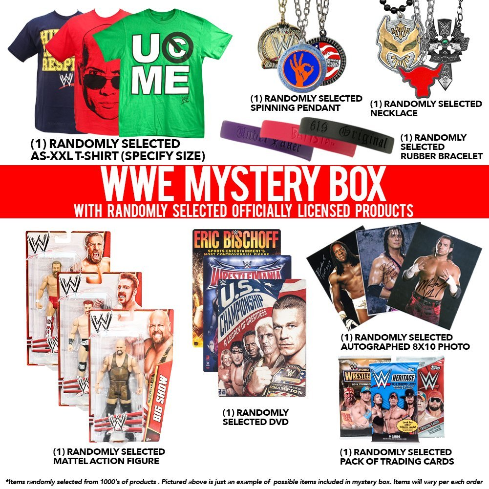 WWE Themed Mystery Box With Adult Medium Shirt