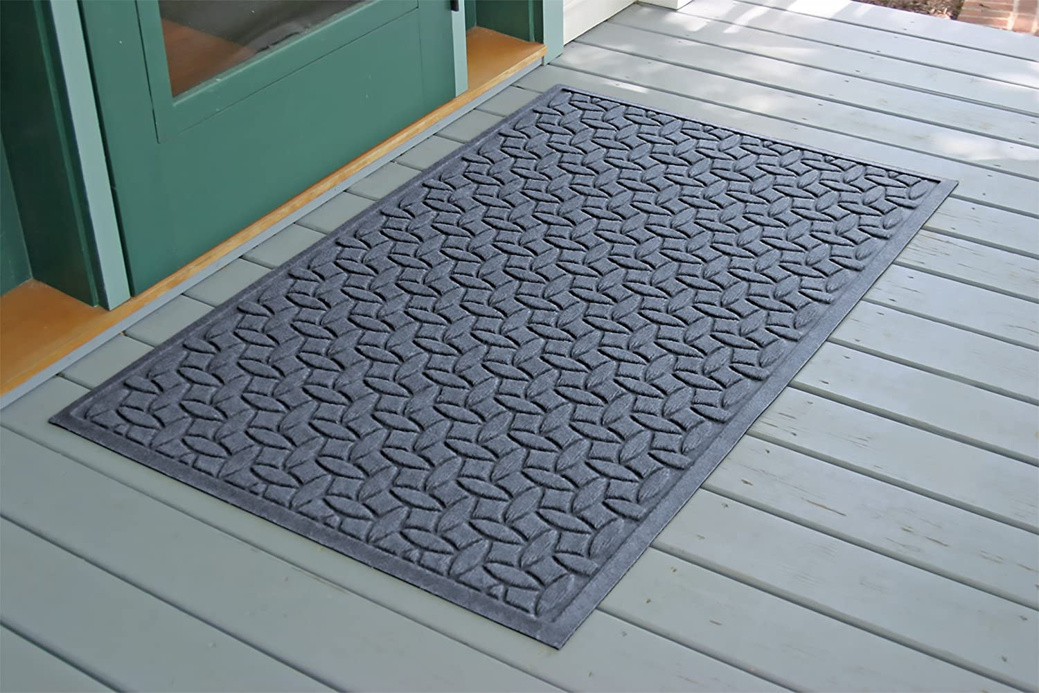 Made in USA Bluestone 22 x 60 inches Water-Trapping Durable and Decorative Floor Covering Bungalow Flooring Waterhog Runner Rug Skid Resistant Ellipse Collection Indoor//Outdoor