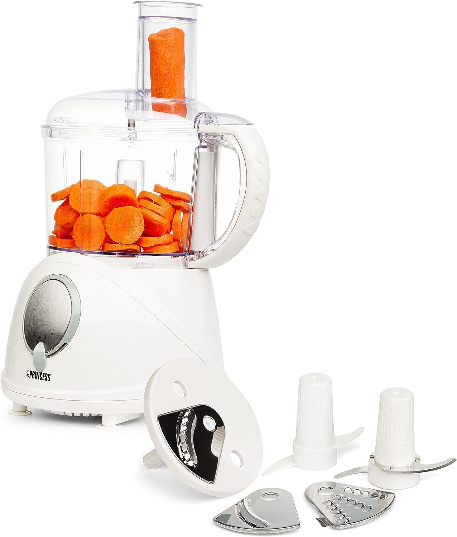 Princess, Modelo- 222069 Procesador de alimentos, 3100 g,, Anchura 439 mm, Profundidad 249 mm, 230 V, Blanco: Amazon.es: Hogar