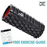 Grid Foam Roller for Muscle Massage - Ideal for Deep Tissue Massage and Myofascial Release - Perfect for Fitness, Rehabilitation, Yoga & Pilates Muscle - Includes Exercise Guide