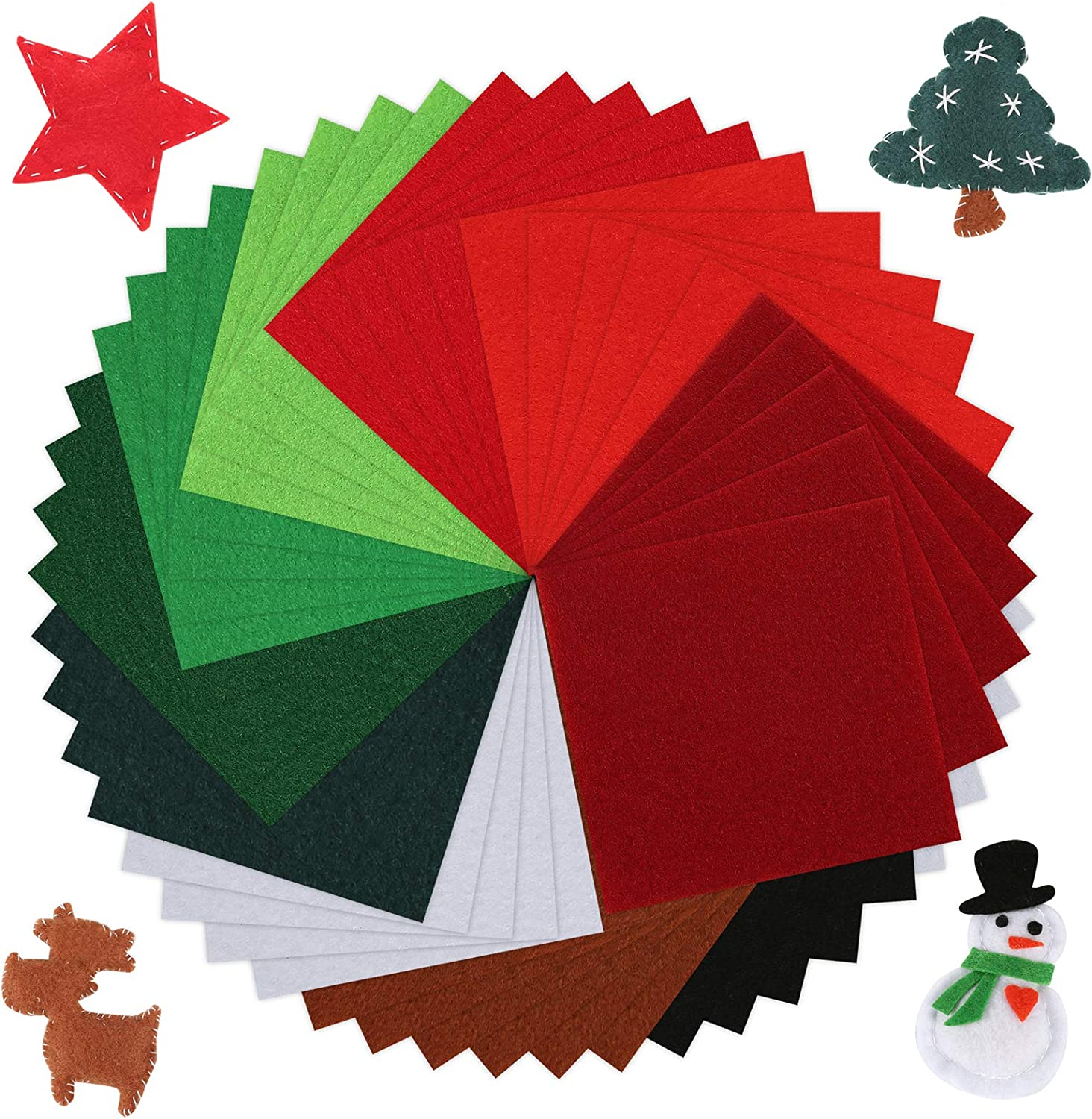 4 Assorted Shades of Red 4 for 3 Red Felt Christmas Crafts 8 x A4 Sheets