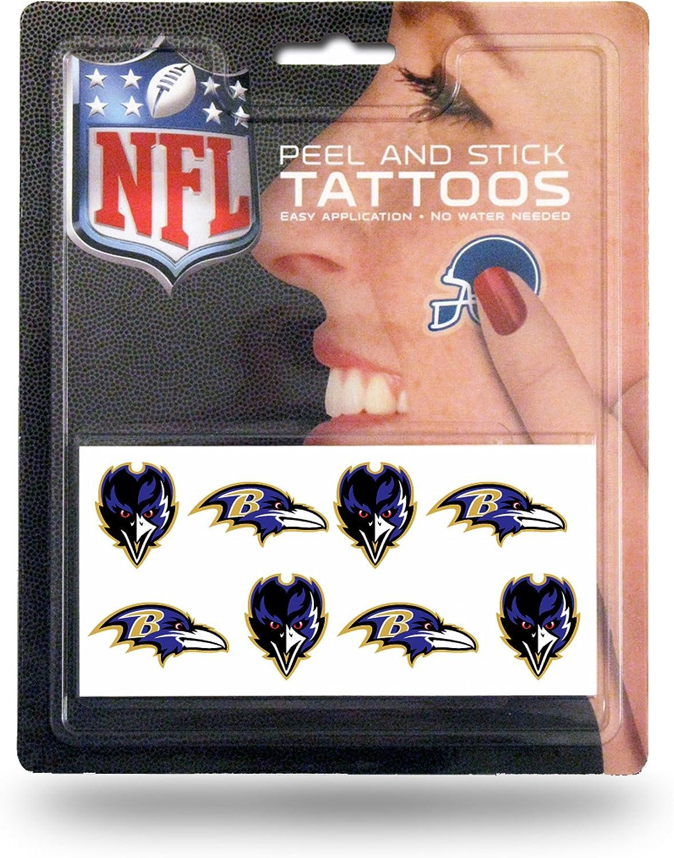 8-Piece Set Baltimore Ravens NFL Rico Industries Face Tattoos