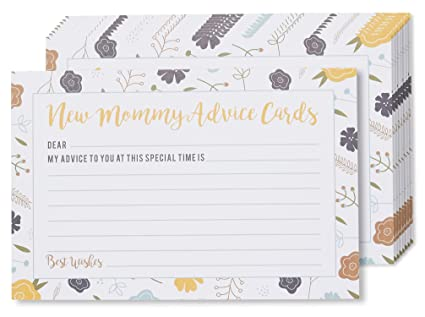 Amazon Baby Shower Advice Cards 50 Pack Mommy Advice Cards