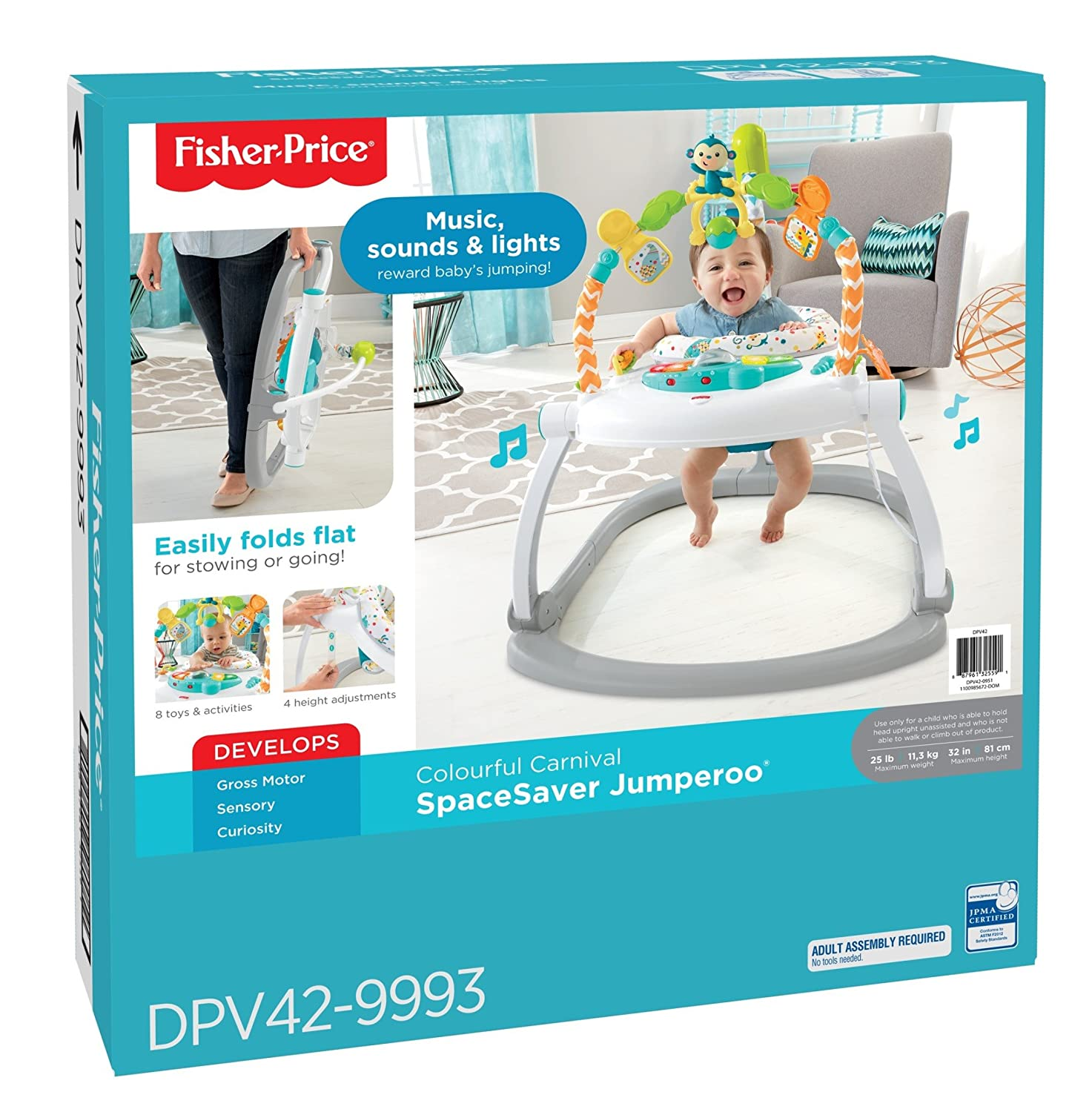 Fisher-Price Colorful Carnival SpaceSaver Jumperoo DPV42