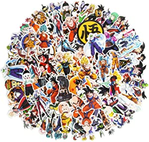 Dragon Ball Z Stickers, 200 Pack Removable Anime Stickers for Laptop Cool Vinyl Waterproof Stickers for Water Bottles Skateboard Stickers