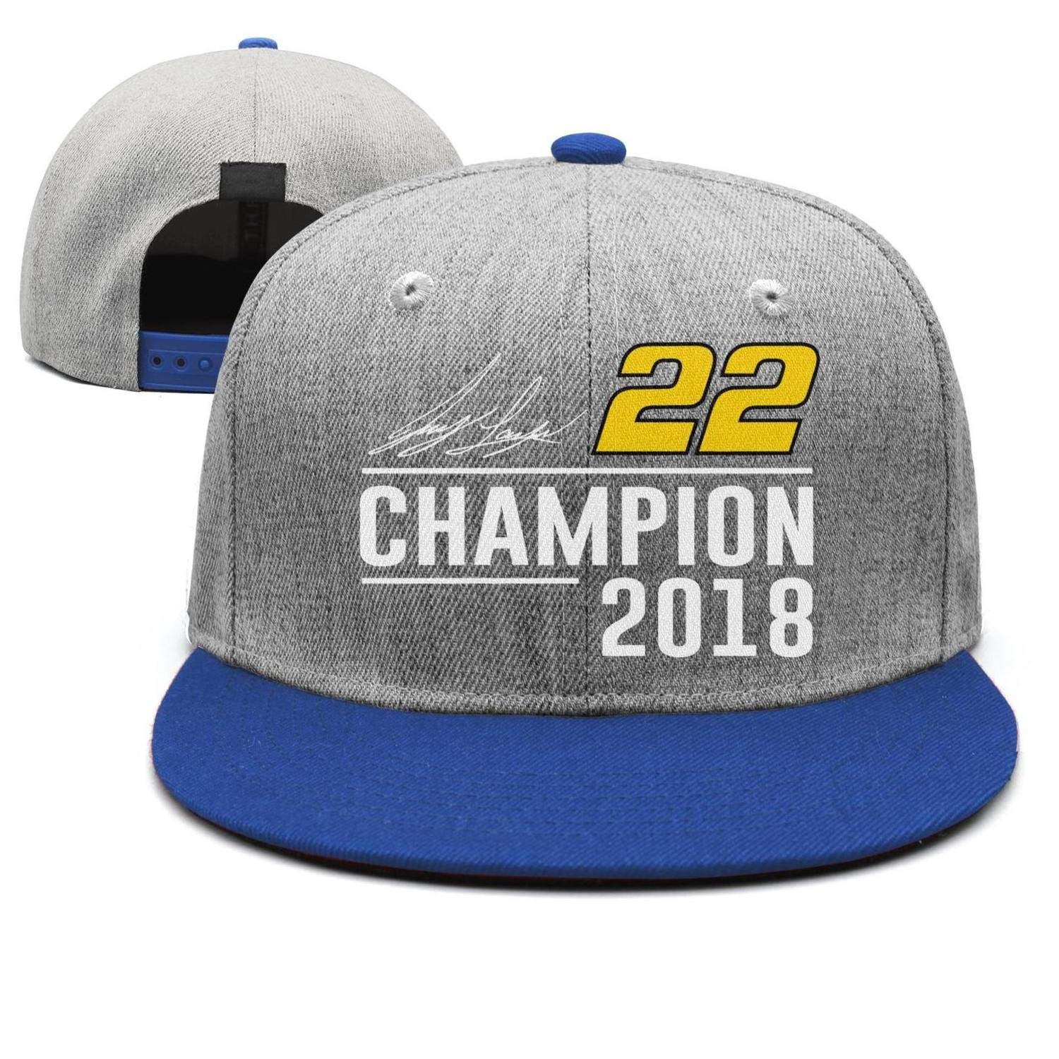 Mens Womens Joey-Logano-2018-Champion-#22-Driver Cap hat Snapback Custom Trucker