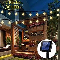 Guirnalda de luces solares,OxyLED 2 x 30 luces
