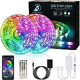 Bonve Pet 12M Tiras LED RGB 5050, Bluetooth Musical Tiras LED 12V Tiras de Luces LED Iluminación, Control de APP y…