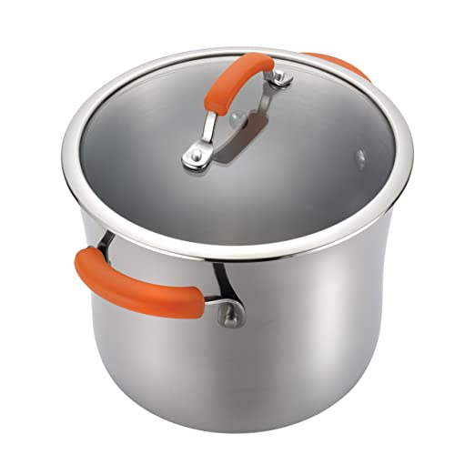 Rachael Ray Stainless Steel II 10-Piece Cookware Set, Orange: Amazon.es: Hogar