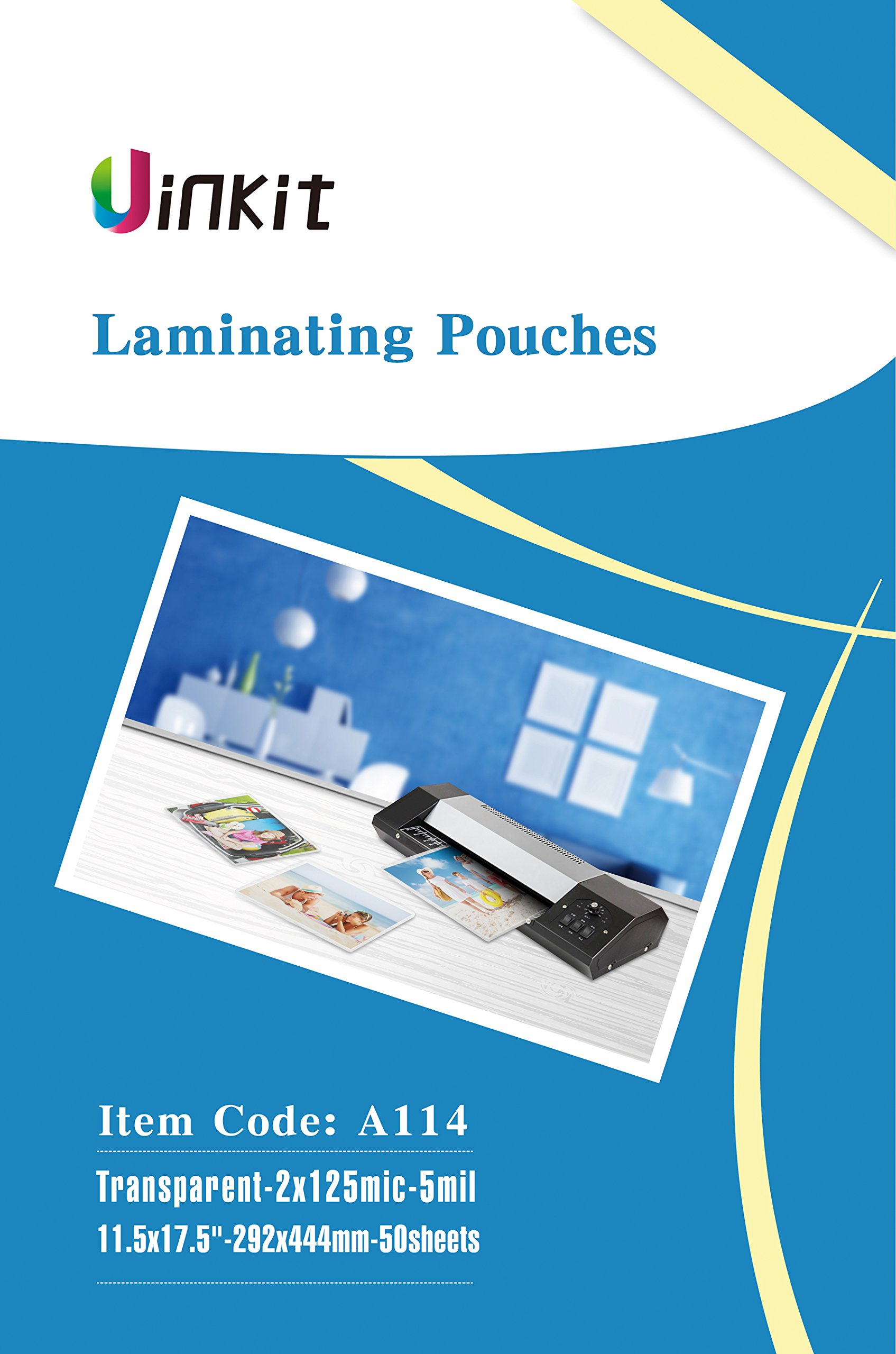 Hot Thermal Laminating Pouches 5Mil - 11.5x17.5 Inches for sealed 11x17'' Photo - 50 Sheets 11.5x17.5 inches Pack , Uinkit 24 hours service , 3 years warranty