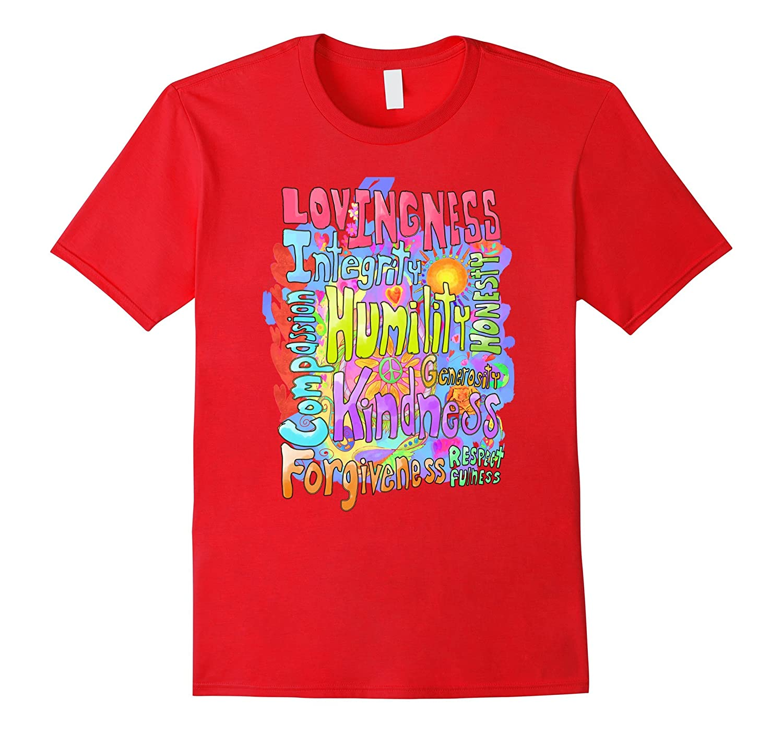 Lovingness Humility and Kindness Word Art Inspiration-T-Shirt