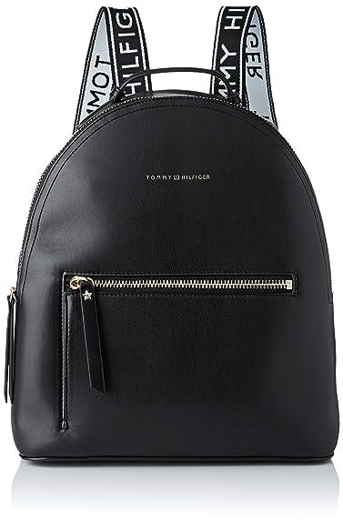 f09cbb3fa4d Tommy Hilfiger Iconic Backpack, Women's Black, 13x33.5x31 cm (B x H T