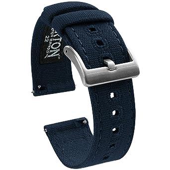 Amazon.com: Barton correas para reloj de pulsera de tela ...