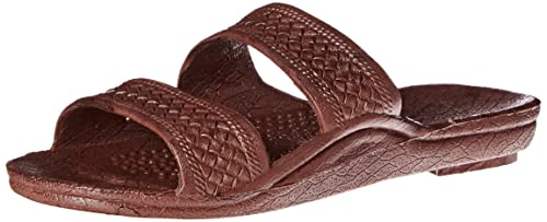 278d07adff9351 Indigo Brown Rubber Double Strap Unisex Sandals  Amazon.ca  Shoes ...