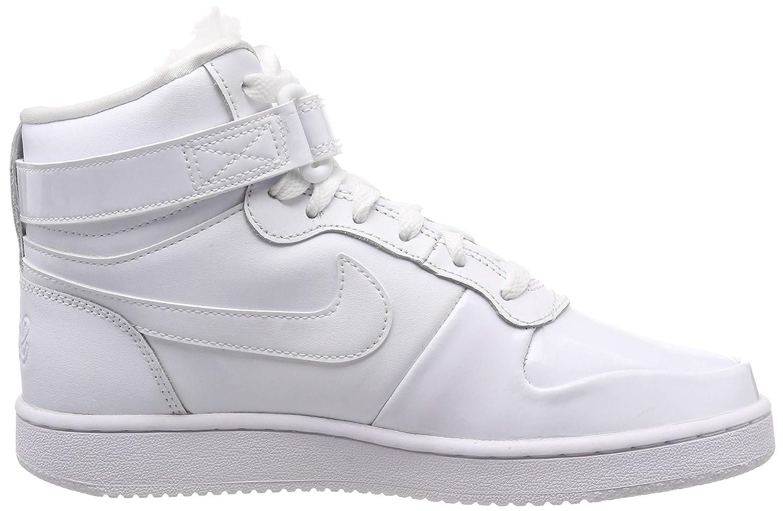 san francisco e3514 d3315 Nike Damen Sneaker Ebernon Mid Premium, Chaussures de Fitness Femme, Blanc  White Black 101, 36 EU  Amazon.fr  Chaussures et Sacs