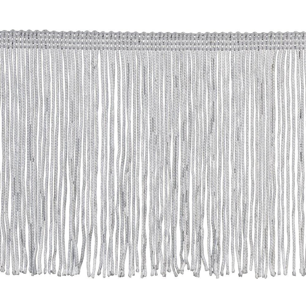 Chainette Fringe P-7045 100-Percent Polyester 6-Inch Fringe Embellishment, 10-Yard, 27 White Belagio Enterprises P-7045-27 White