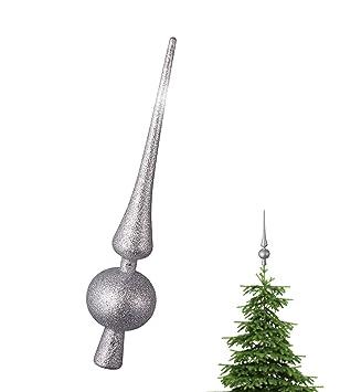 Spitze Für Tannenbaum.Tk Gruppe Timo Klingler Silber Christbaumspitze Baumspitze Spitze Aufstecker Für Tannenbaum Tannenbaumspitze Weihnachtsbaum Weihnachten Silber