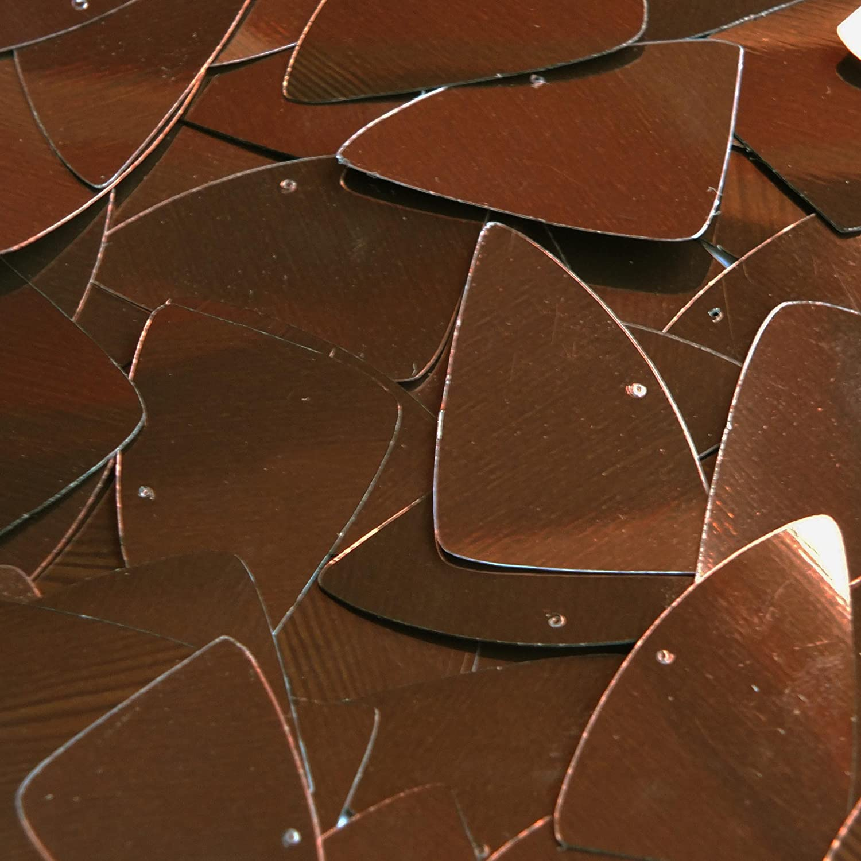 "Bronze Brown Metallic Shiny Fishscale Fin 1.5/"" Couture Sequin Paillettes"