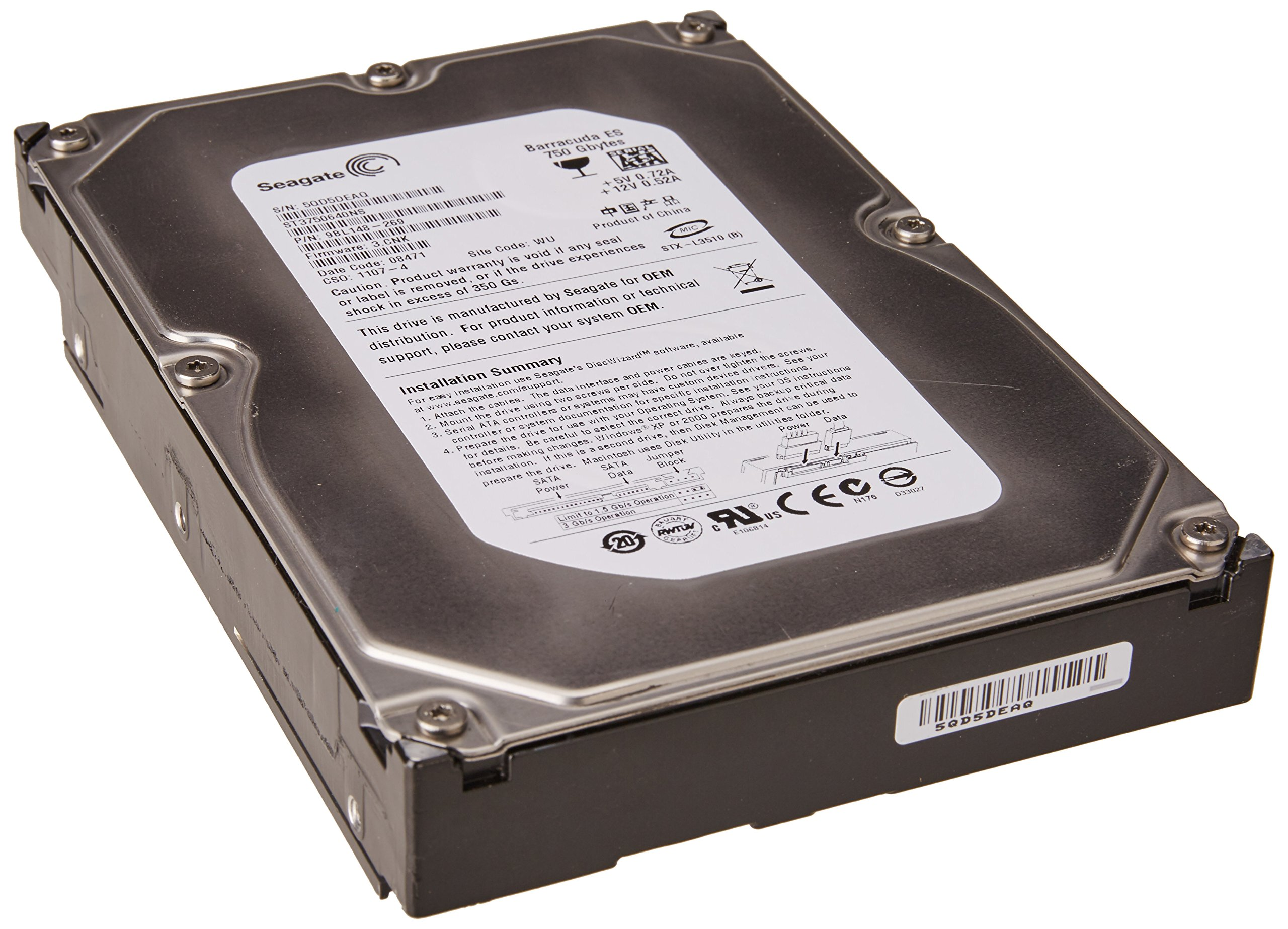 2PF9481 - Seagate-IMSourcing Barracuda ES ST3750640NS 750 GB 3.5quot; Internal Hard Drive