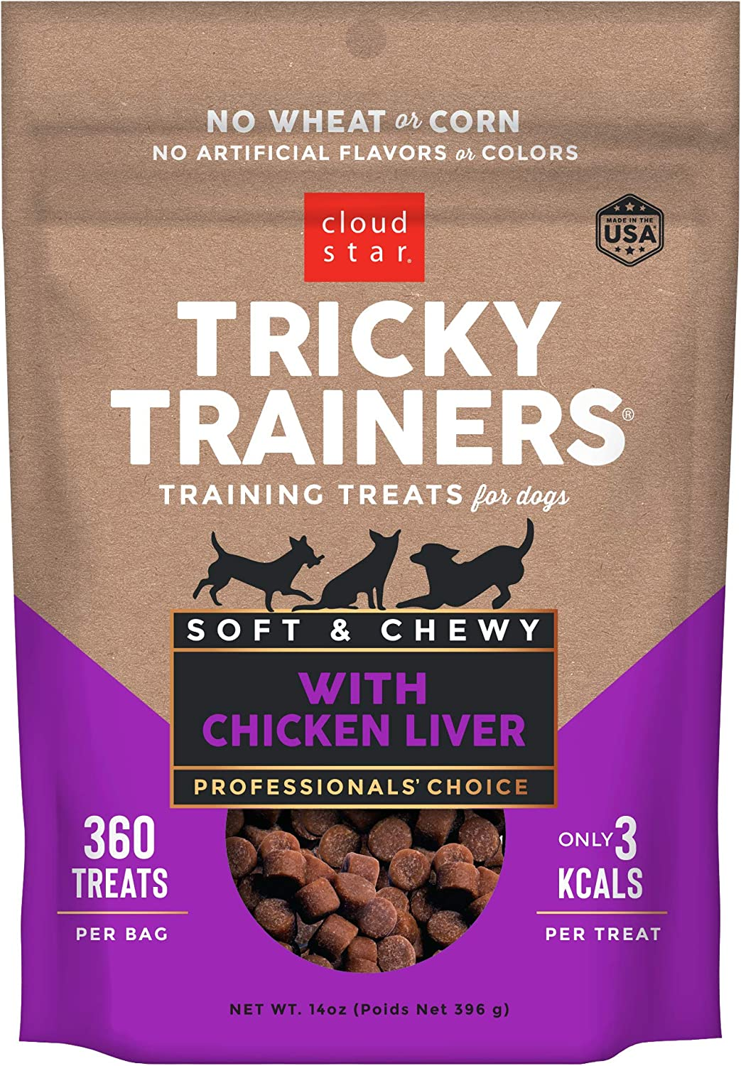 Cloud Star Tricky Trainers Chewy - Soft Low Calorie Dog Training Treats