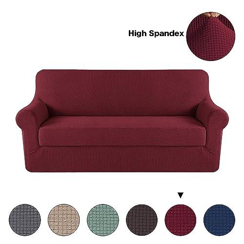 Sofa Slipcover With Separate Cushion Covers: Sofa Cushions Cover: Amazon.com