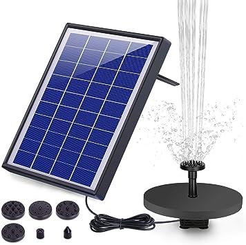 AISITIN Solar Fuente Bomba, 6.5W Fuente de Jardín Solar, Batería Incorporada, Caudal 500 L/H, c...