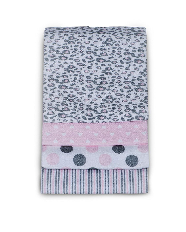 Carter's 4 Pack Wrap Me Up Receiving Blanket, Pink Cheetah Carter' s C802RCV
