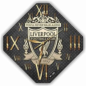 "TimeTurnersClock Liverpool FC 11,4"" Football Soccer Handmade Wall Clock"