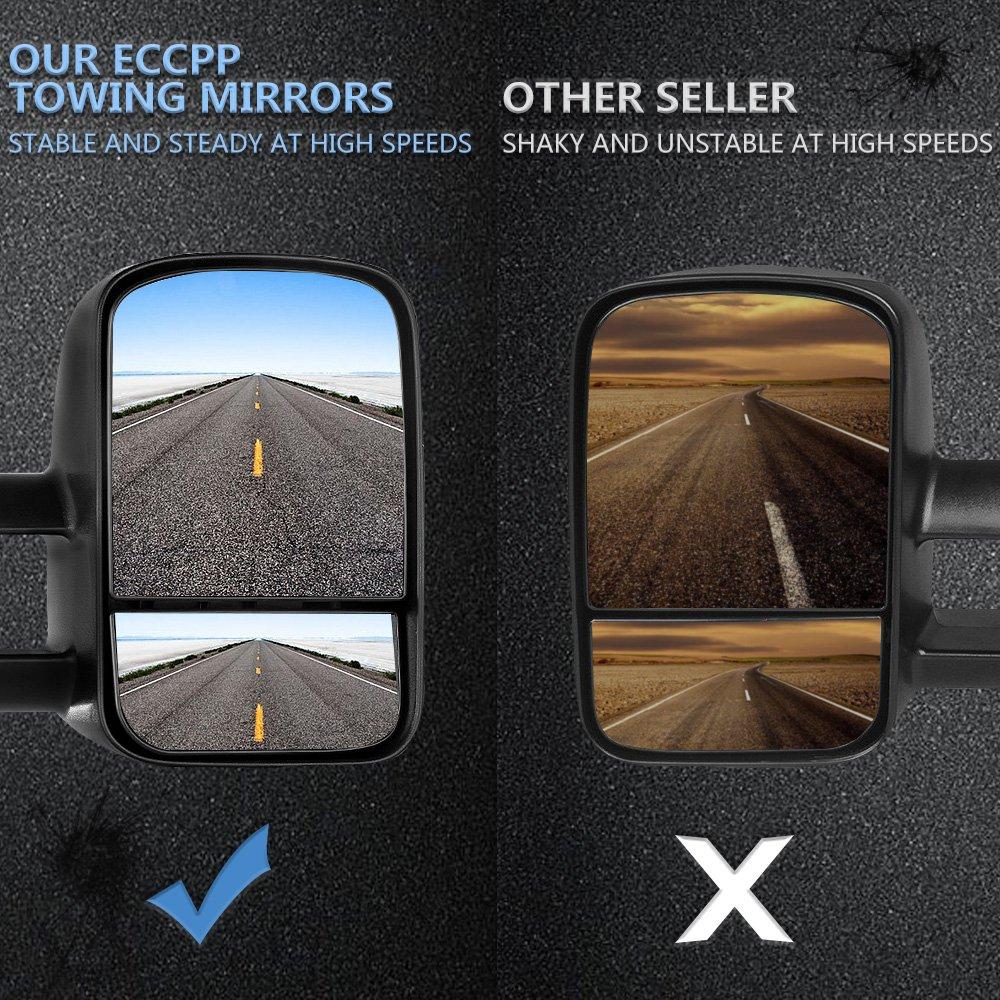 Eccpp Towing Mirrors For Chevy Chevrolet Silverado Tahoe 02 Suburban 5 3l Fuse Box Gmc Sierra Yukon Xl Black Power Heated Side 2000 2001 2002