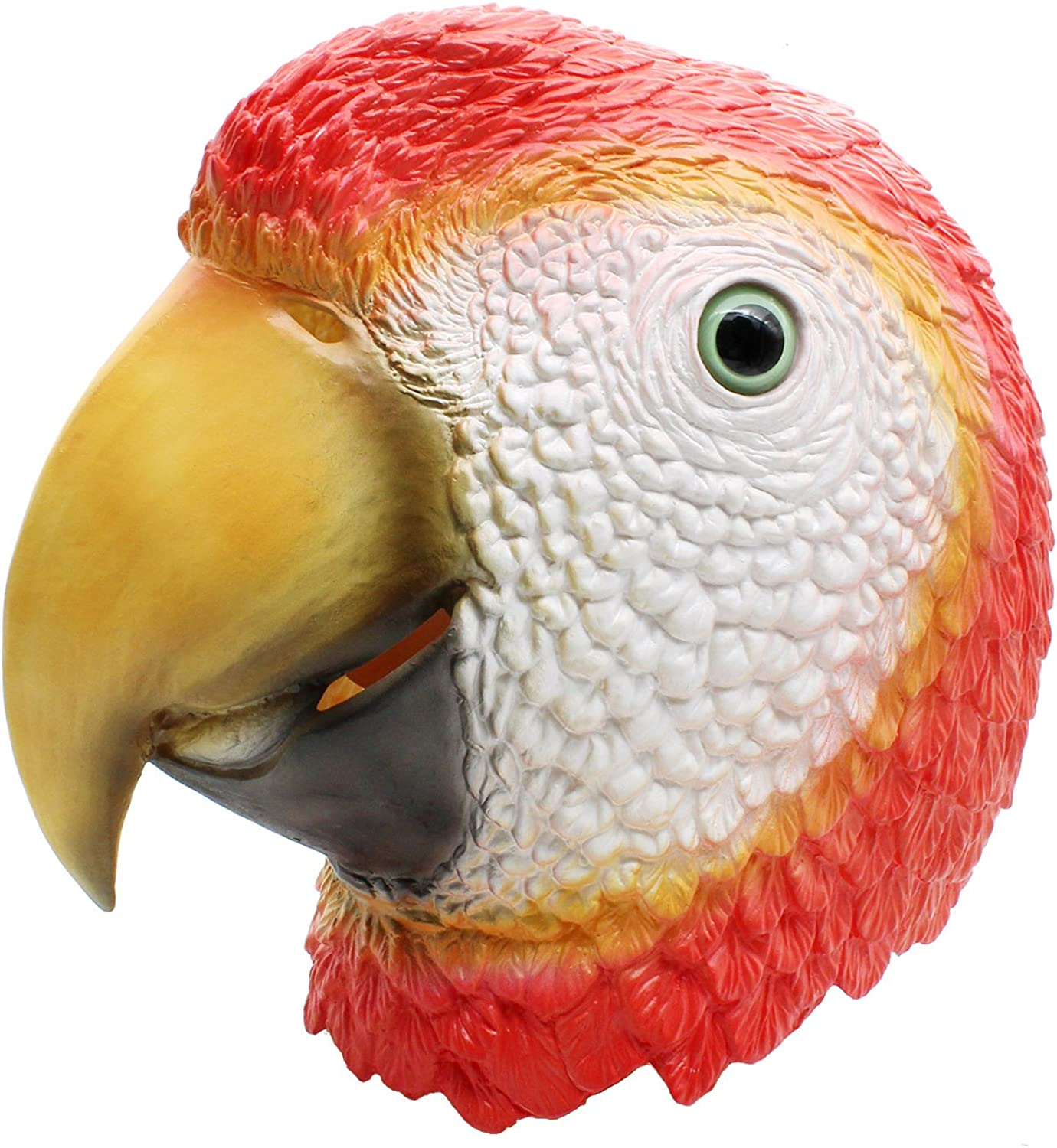 ** PARROT ANIMAL PARTY MASK FANCY DRESS NEW ** LADIES MENS CHILDRENS BIRD