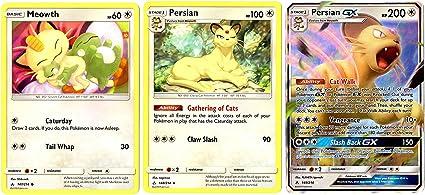 Pokemon SM Unbroken Bonds 149//214 Persian GX Holographic Ultra Rare Card M-NM