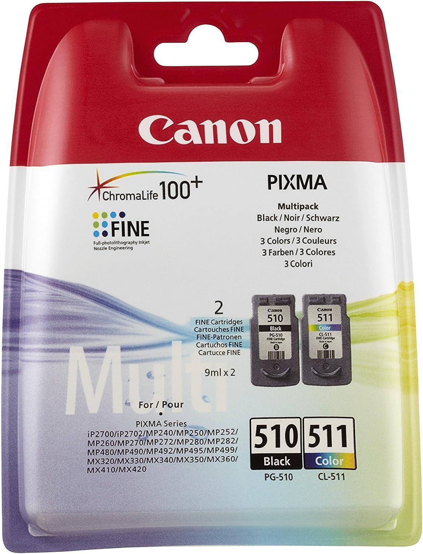 Canon 2970B010AA Cartuchos de tinta BK+Tricolor para Impresora de Inyeccion de tinta Pixma