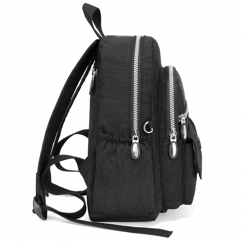 f912c8809537 Amazon.co.jp: バックパック レディース 小さい リュックサック 超軽量 ガールズ ナイロン ショルダーバッグ Black: シューズ& バッグ