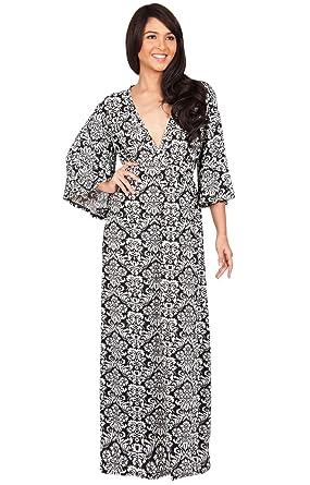 b97abd6267 KOH KOH Petite Womens Long Kimono 3/4 Sleeve Sleeves Sexy Print Empire  Waist Casual