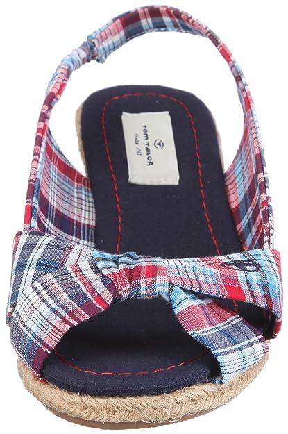 Tom Tailor Laila 0219300-004 - Sandalias de vestir de tela para mujer, color azul, talla 42