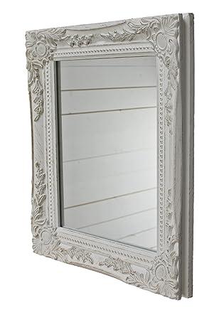 elbmöbel Wand-Spiegel weiß 32x27x4.5 cm rechteckiger handgefertigter ...