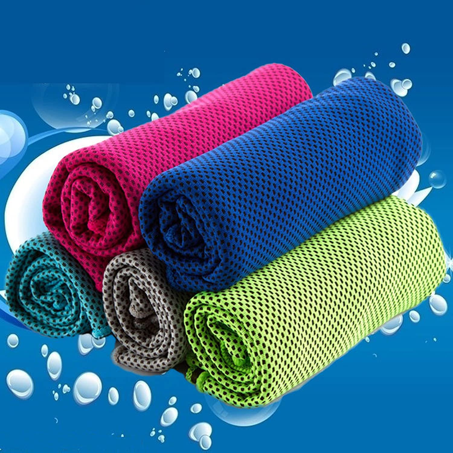 Elonglin Cooling Microfibre Towel Ice Cold quick dry towel EXTRA LARGE Super Absorbent Lightweight for Instant Relief Stay Cool travel gym Fitness Travel camping swim yoga Hiking Beach pilates