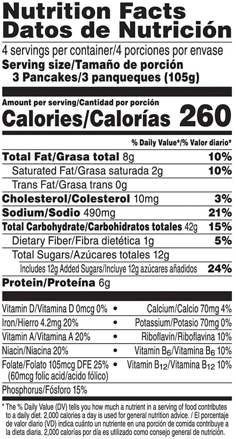 Kelloggs Eggo, Frozen Pancakes, Chocolate Chip, Easy Breakfast, 14.8 oz Box (12 Count): Amazon.com: Grocery & Gourmet Food