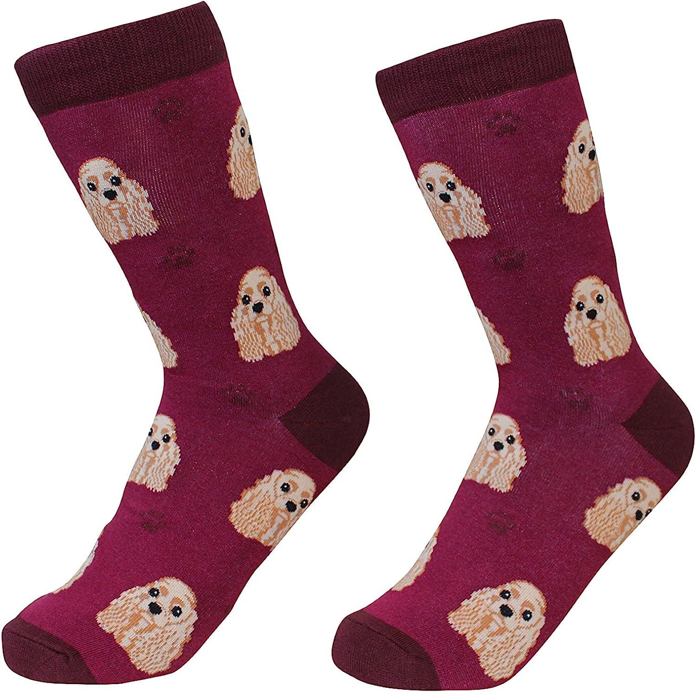 Cocker Spaniel Dog Breed Socks Unisex Sock Daddy by E&S Pets