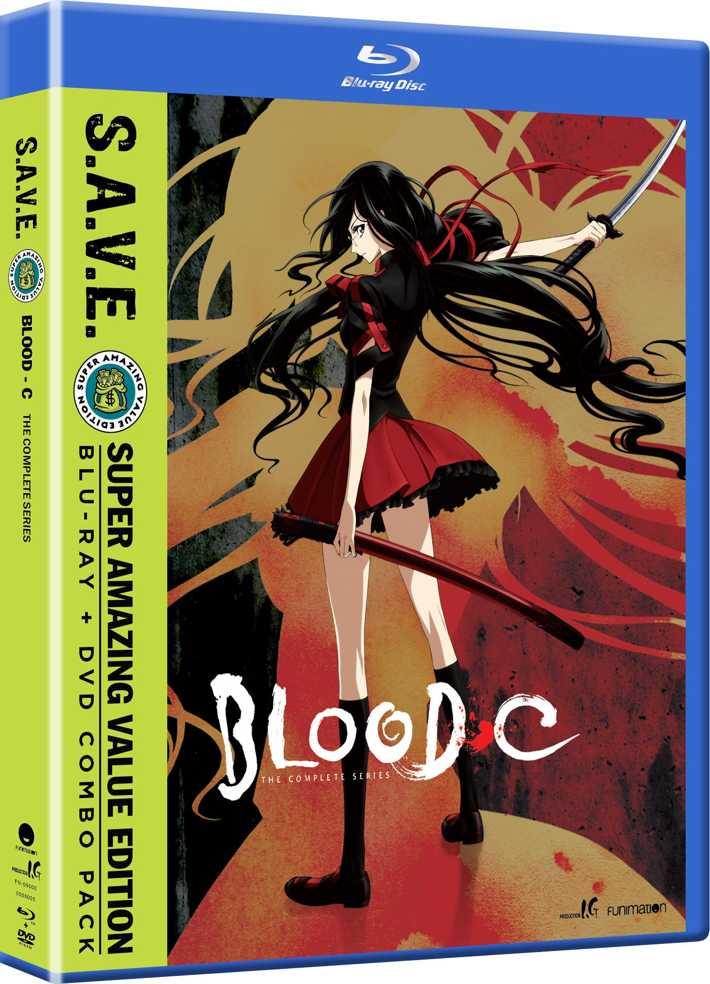 Blu-ray : Blood-C: The Complete Series - S.A.V.E. (With DVD, 4 Disc)