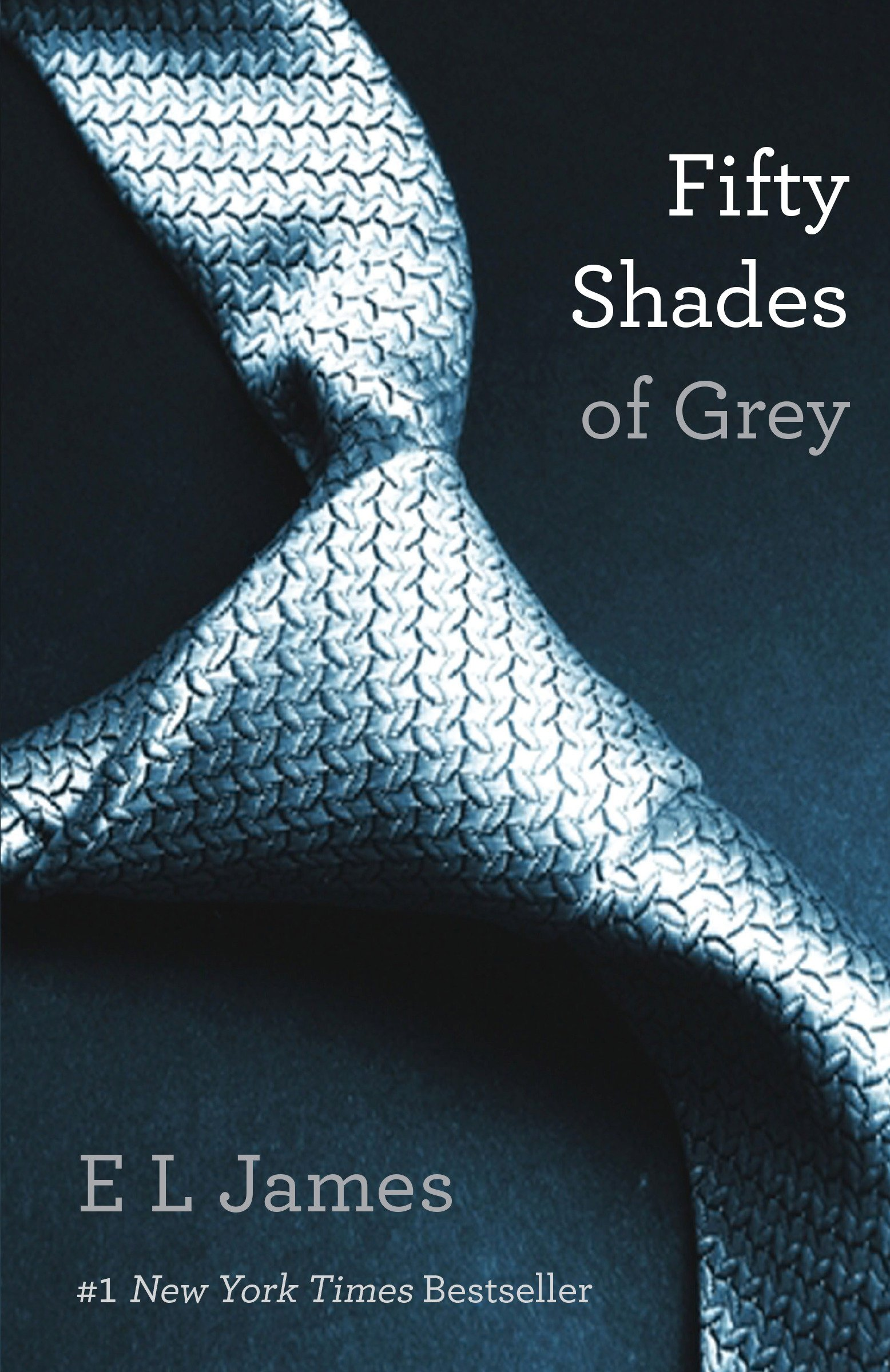 the book cover for one of e l james's bestselling books fifty shades of grey
